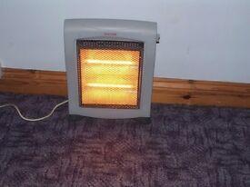 halogen heater stands approx 40cms high