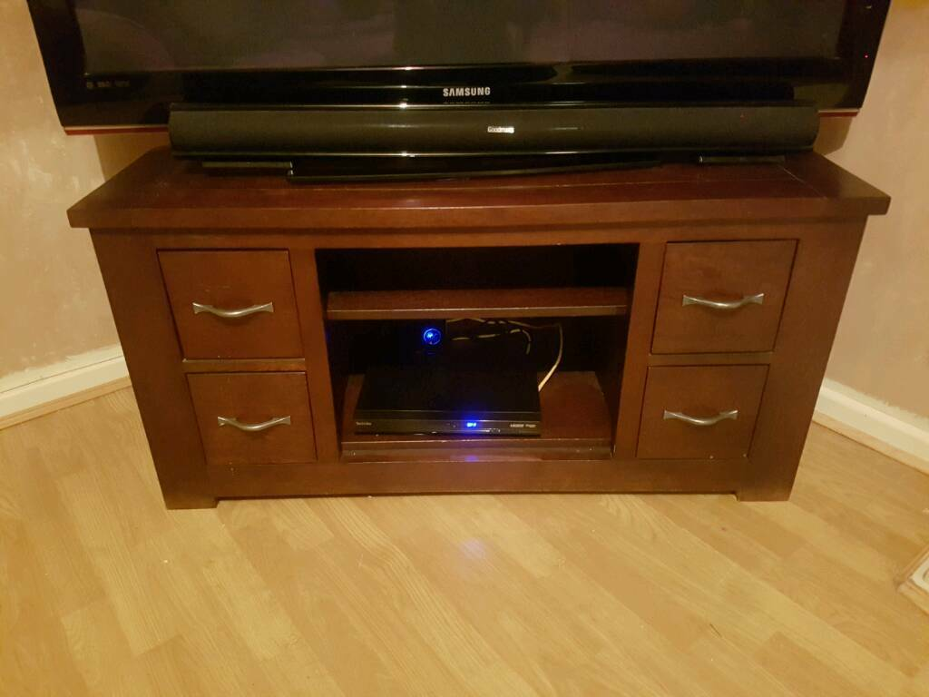 dark wood tv stand  in rainworth nottinghamshire  gumtree - dark wood tv stand