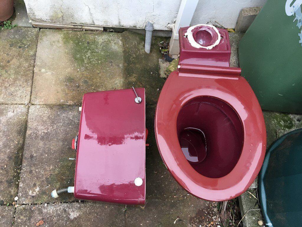 Marron Colour Toilet Unit - Full working order