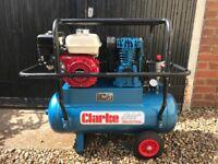 Clarke 50ltr Portable Petrol Driven Air Compressor - Honda Engine