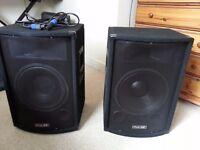 P.A. Speakers 12inch, 500 Watt, 8 Ohm (Pair)