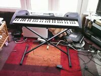 Yamaha electronic organ and stand PR 175