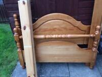 Double bed frame solid wood pine £50