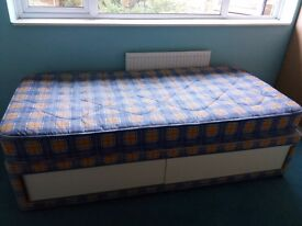 Single divan bed with mattress 35£