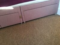 TheraPur Blush pink 4 draw divan bed