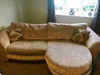 4 Seater DFS Sofa with Chaise