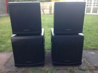 Denon Axis 12 - DAP Audio DLM-12 Active - 4 Active DJ Speaker Set - £2000+ New!