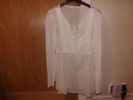 Ladies White Top Size 12