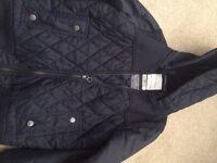 Boys Zara blue bomber jacket size 9-10