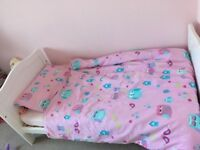 Mother care white cot bed