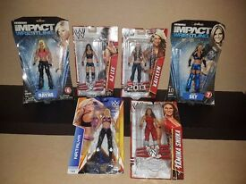 WWE Diva's Wrestling Figures Joblot - 6 female wrestlers