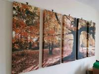 Very large autumn canvas picture
