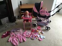 Dolls pram and loads of accessories
