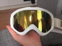 anon white ski goggles