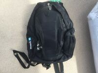 Black, High Sierra rucksack with Oil Company logo