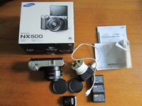 Samsung NX500 28 Megapixel & 4K Video Recording, Awesome Quality Photos & Video, 2 Extra Batteries