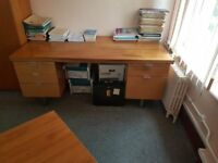 Large desk with drawers #062
