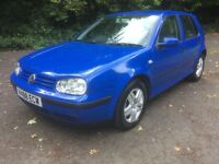 V REG VW GOLF 1.9 TDI S 5DR MOT 1 YR FSH MET BLUE