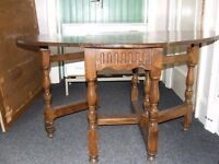 Dark wood drop leaf table project