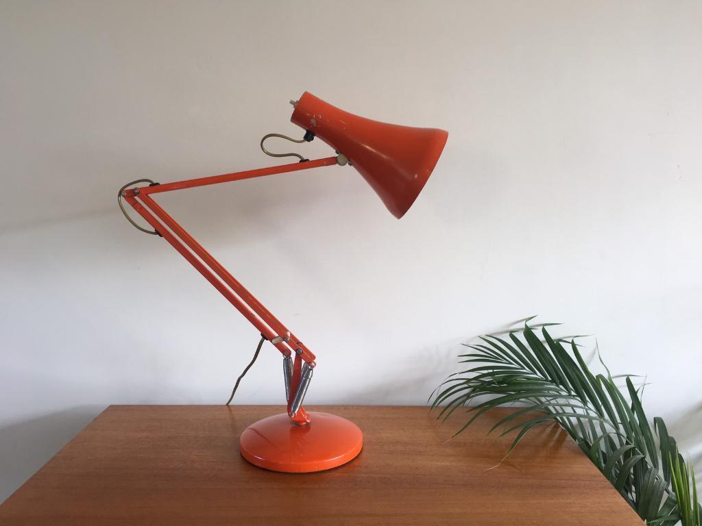 Mid Century Anglepoise Orange Desk Lamp 1970s Model 90