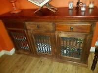 Jali, Sheesham sideboard, Indian wood furniture