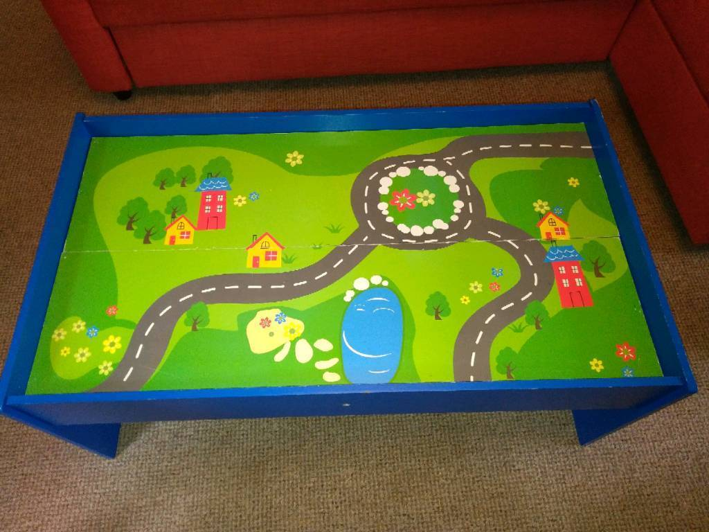 Chad Valley Play Table and wooden train set | in Ipswich, Suffolk ...