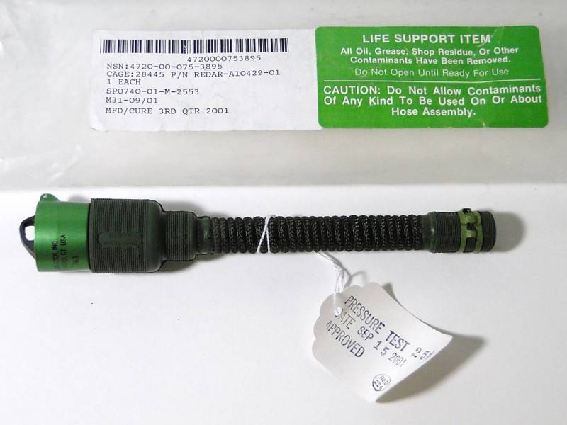 R.E. Darling Co Inc Oxygen Hose Assembly Hawkeye Aircraft Medical Tool