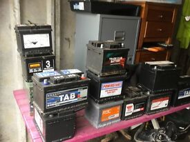 Assorted car batteries for sale PETROL AND DIESEL