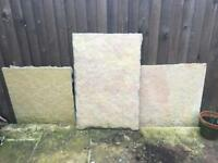 Stone patio pavers in grey and light sandstone colour £2