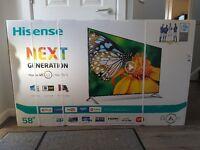 """Hisence 58"""" 3d 4k ultra hd tv new in box"""