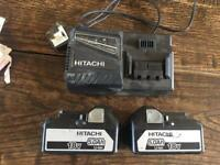Hitachi Tool batteries and charger open to offers