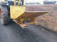 Forklift tipping skip ideal for farm stables scrap rubbish building site etc tractor