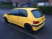 Peugeot 106 gti for sale, 60,000 miles