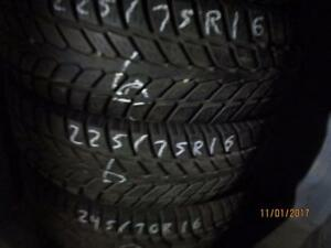 LT225/75R16 2 ONLY USED GT RADIAL WINTER TIRES