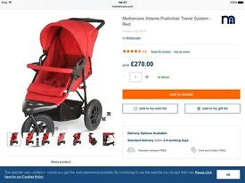 MOTHERCARE XTREAM TRAVEL SYSTEM