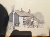Lovely print of The Jolly Farmer Pub