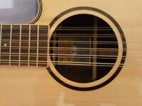 TANGLEWOOD TGRD 12 CE ROSEWOOD GRAND RESERVE ELECTRO ACOUSTIC GUITAR, RRP £440-95.