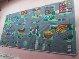 Playmat grey background 6ftx6ins by 3ft 3ins