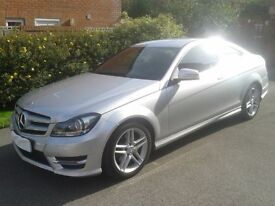 Mercedes Benz C250 Coupe AMG SPORT EDITION 201BHP Silver 34000 miles £16250 ono