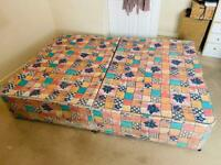 ** FREE ** Divan double bed base and headboard