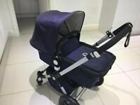 Bugaboo Cam3 full travel system in classic navy