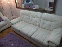 3 seater and 2 seater leather sofa for sale