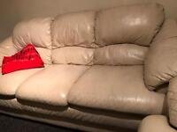 Leather sofas 2and 3 seating