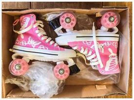 Girls LA Quad Skates Pink Size 3 (EU 36)