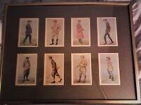 8 original signed spy golfer prints.framed.