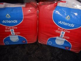adult pull-ons nappies size s 16 pack