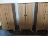 DVD cabinets for sale. From Next so good quality. Three in total do can hold over 300 dvds