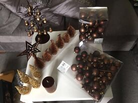 Christmas Decorations. Chocolate Brown from Next.