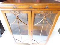 Carver oak 2door glazed bookcase