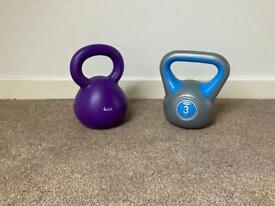 3 & 4 kg Kettlebell weights